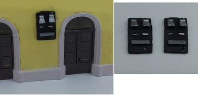 FERRMODEL 218 - Set campanelle leopolder per stazione FS, 2 pz Scala H0