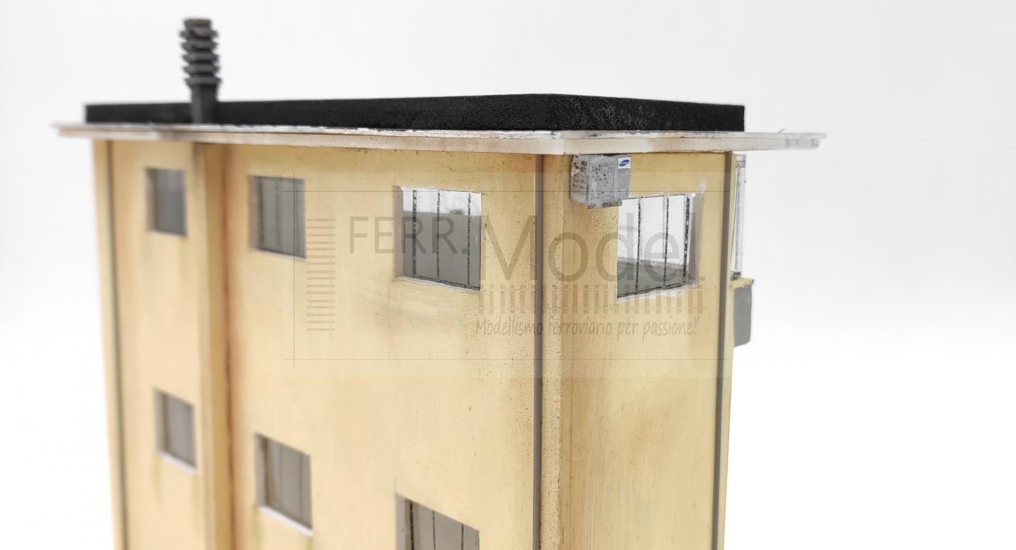 Cabina ACEI FS posto di blocco FERRMODEL 244 illuminato scala H0