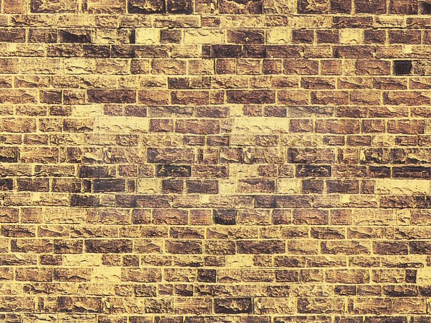cartoncino in rilievo 3D NOCH 56605 Scala H0 muro in mattoni Novità